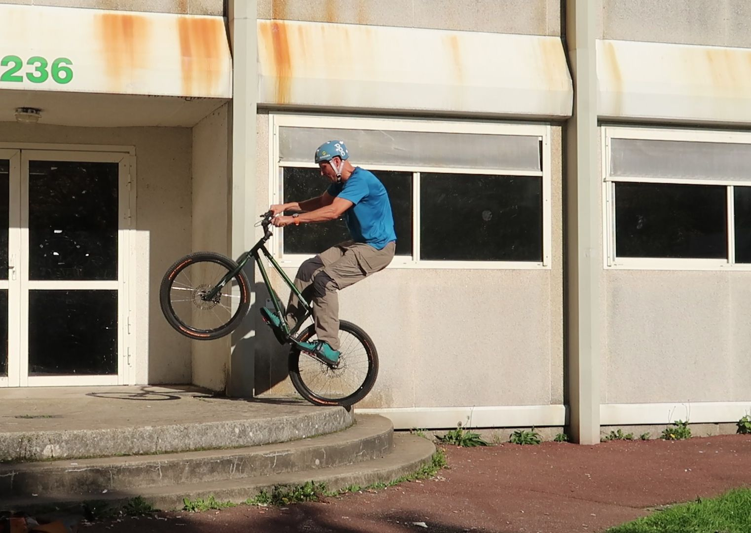 learning street trials on a 24-inch bike
