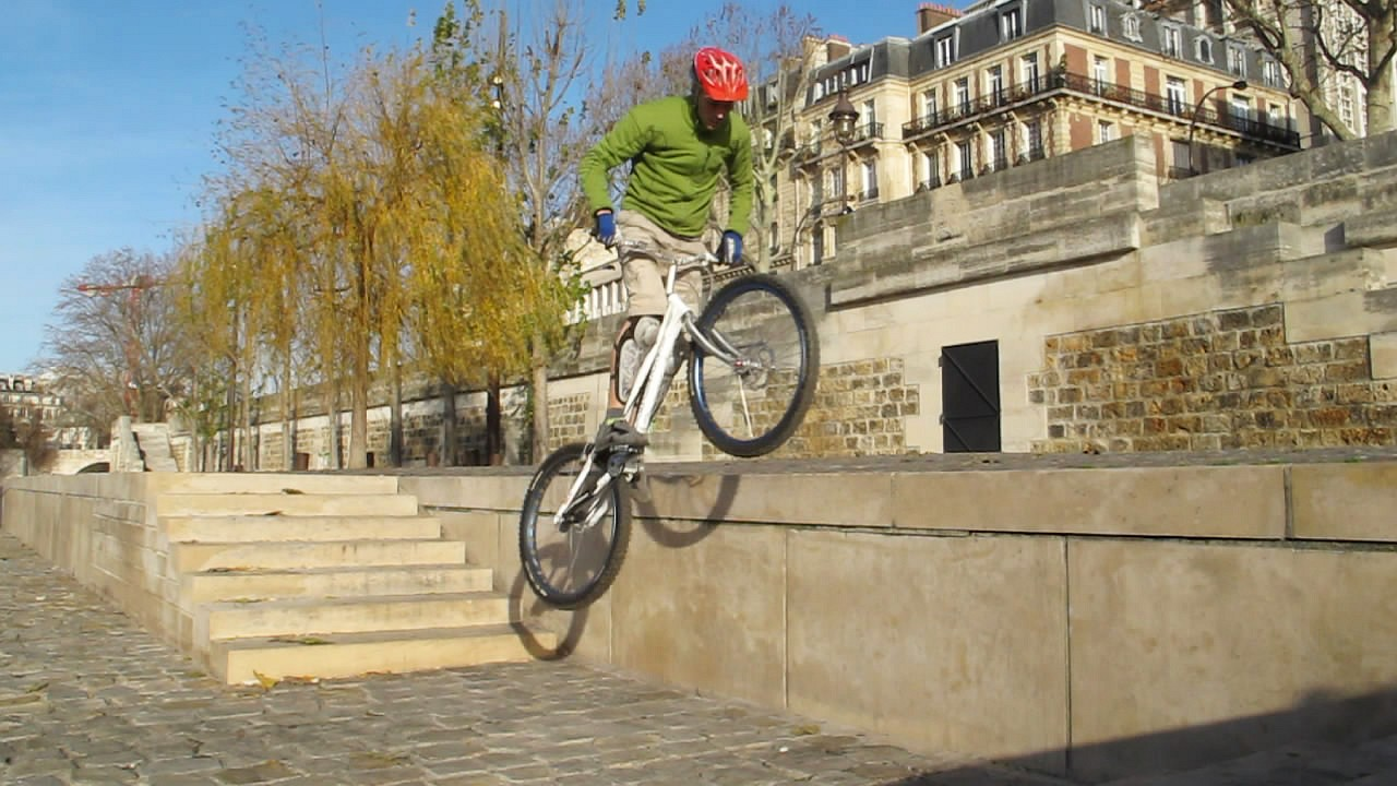 mountain biking and biketrial skills